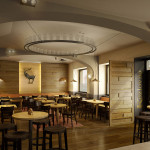 Kozlovna restaurant, Prague, 3d visualisation