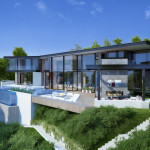 Perugia House , Los Angeles, 3d visualisation