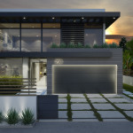 Santa Monica House, Los Angeles, 3d visualisation
