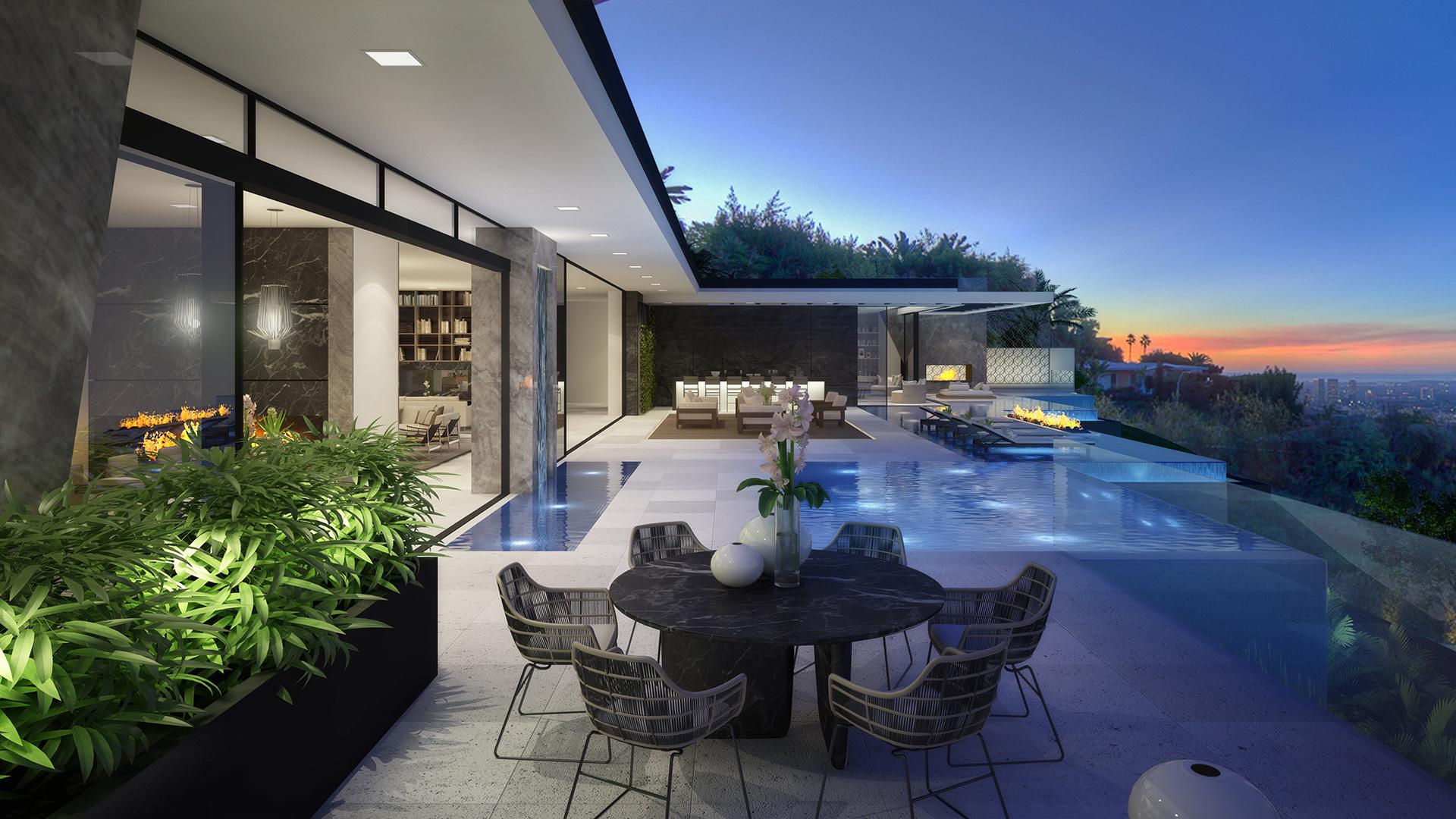 Wallace Ridge House Los Angeles 3d