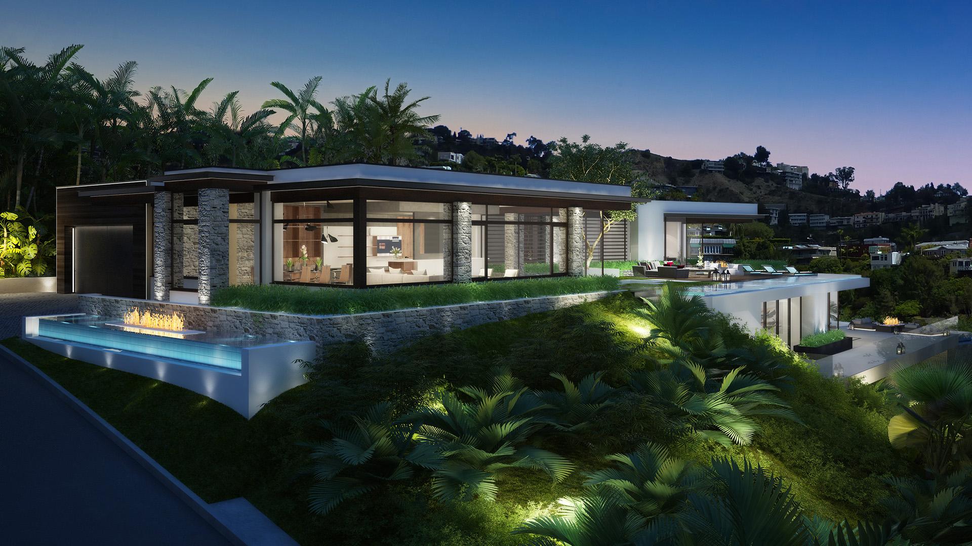 Blue Jay House Los Angeles 3d