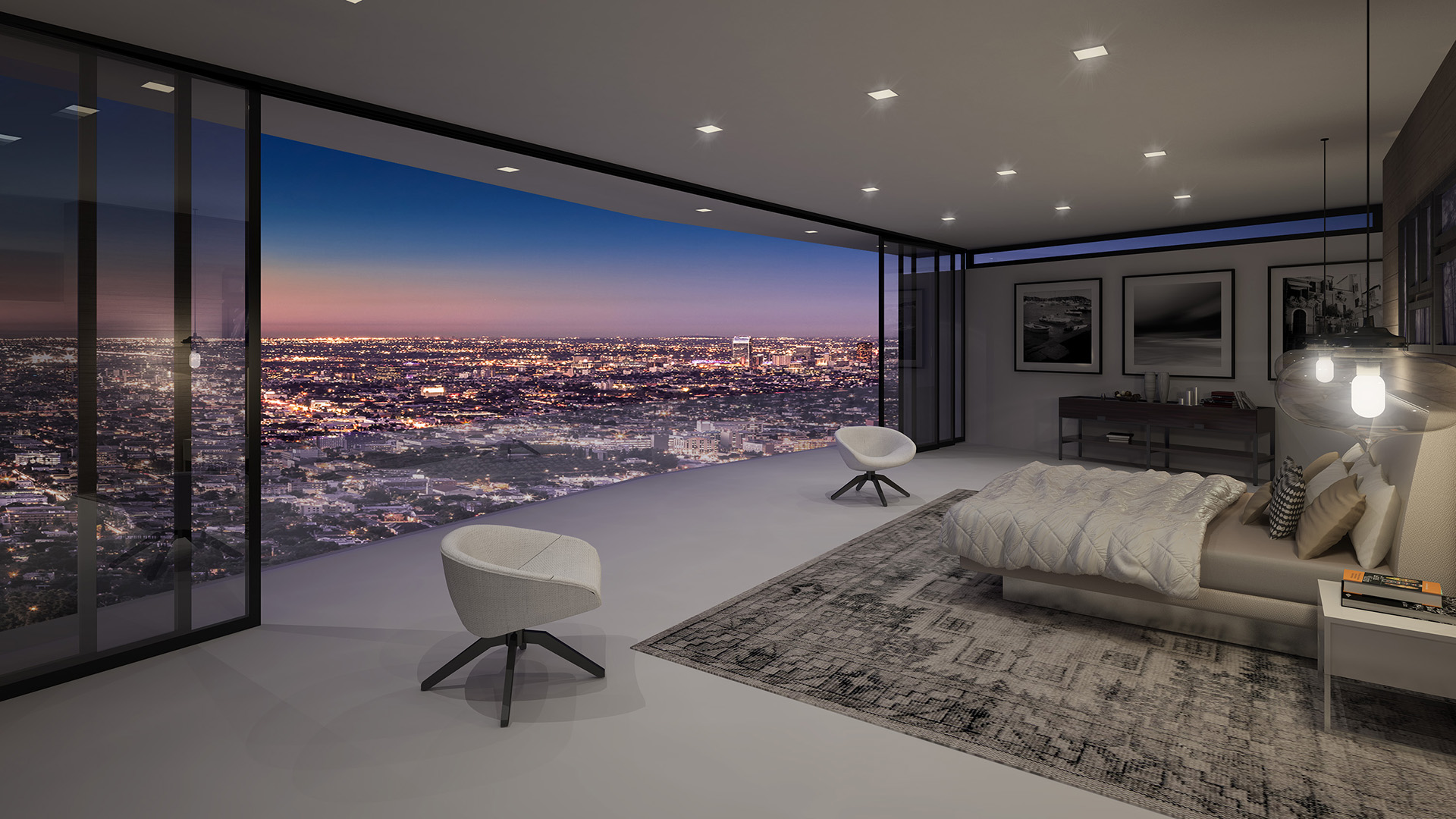 Incroyable Modern Interiors, LA, 3d Visualisation