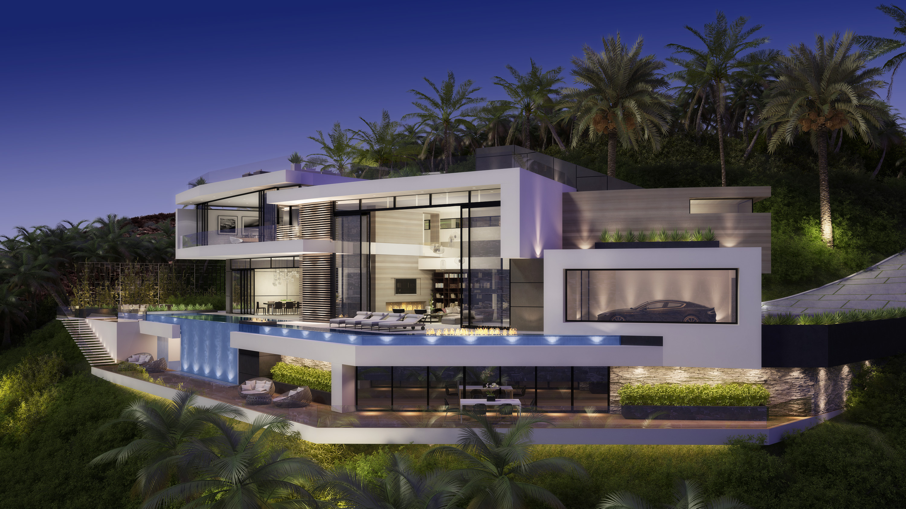 Curson house los angeles 3d for Modern house design los angeles