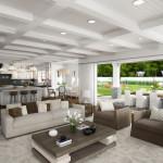Traditional Interiors, LA, 3d visualisation