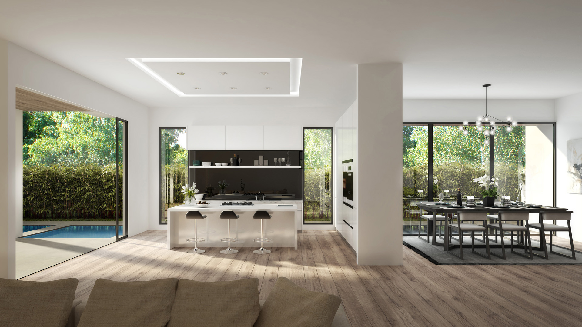 Modern Interiors Los Angeles 3d