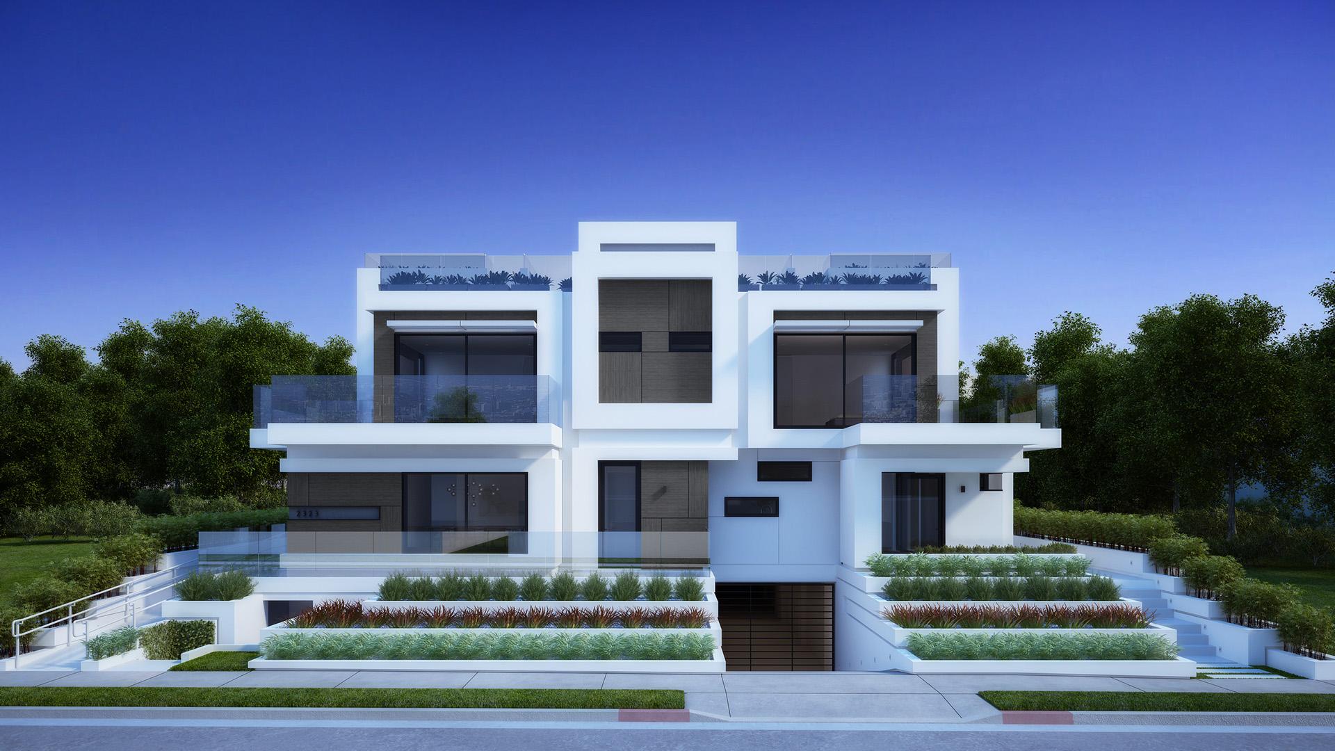Residental houses santa monica los angeles 3d realview for House sitting santa monica