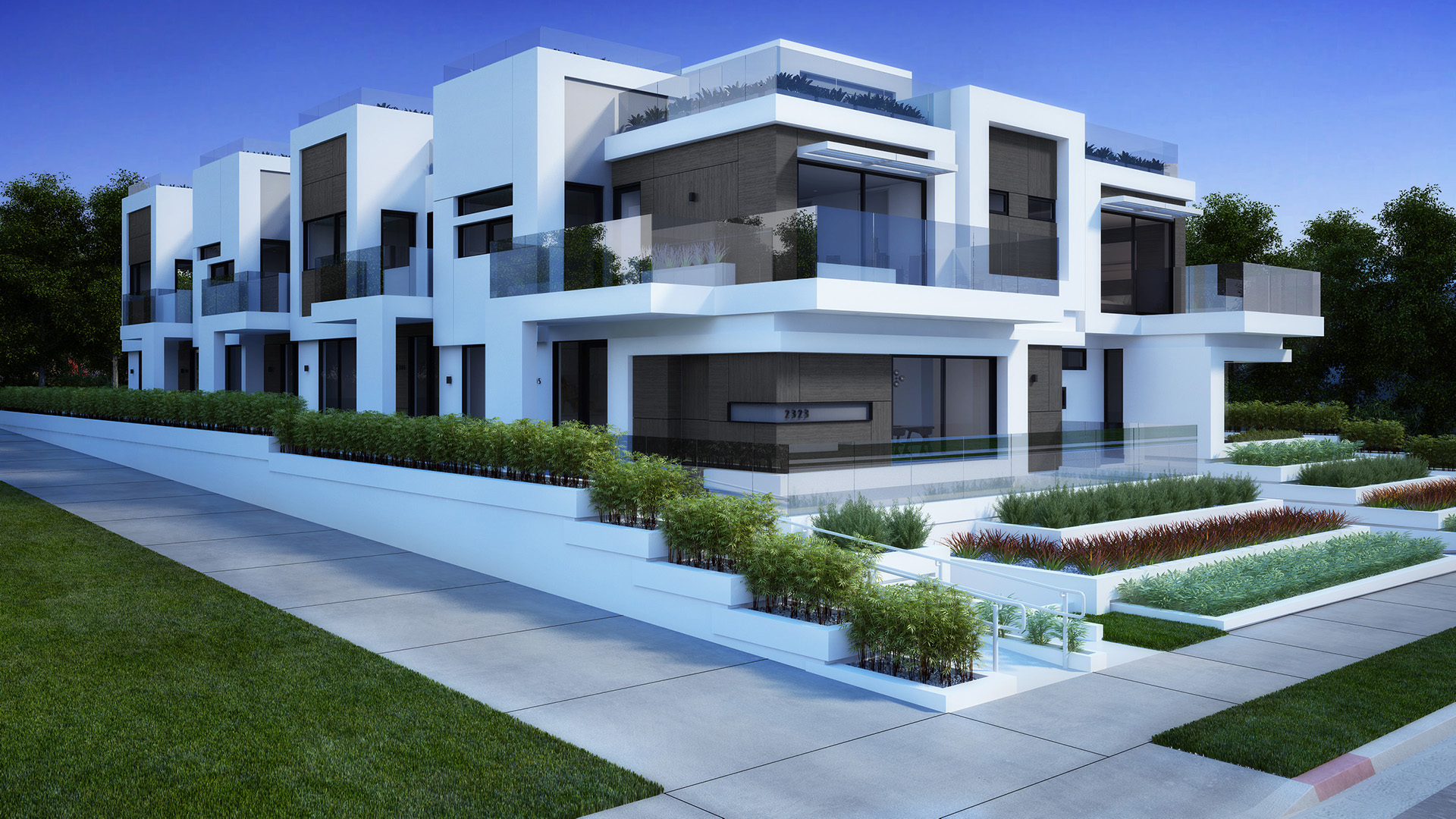 Residental houses santa monica los angeles 3d realview for New house in los angeles